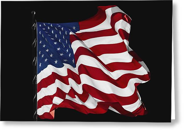 The Stars And Stripes Greeting Card by Steven  Michael