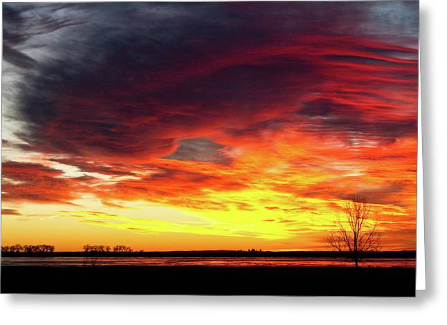 Sunset Prints Greeting Cards - The Start of A Colorful  Day Colorado Sunrise Image Greeting Card by James BO  Insogna