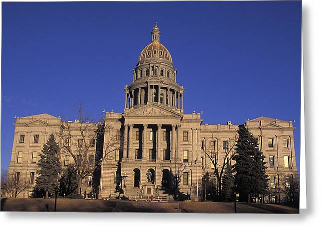 State Legislature Greeting Cards - The State Capitol Building Greeting Card by Richard Nowitz