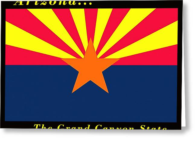 The Grand Canyon Greeting Cards - The State Flag Of Arizona Greeting Card by Floyd Snyder