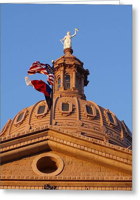 James R Granberry Greeting Cards - The State of Texas Capital II Greeting Card by James Granberry