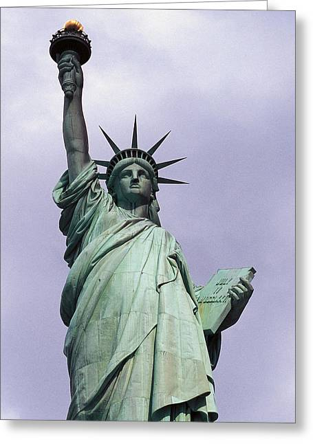 The Statue Of Liberty Greeting Card by Auguste Bartholdi