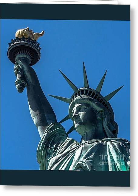 Libertas Greeting Cards - The Statue of Liberty Greeting Card by James Aiken