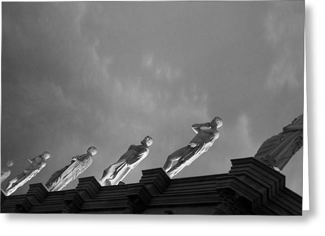 White Greeting Cards - The Statues  Greeting Card by Sheela Ajith