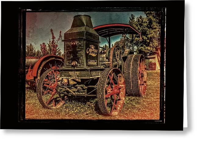 Best Steam Tractor Greeting Cards - The Steam Tractor Greeting Card by Thom Zehrfeld