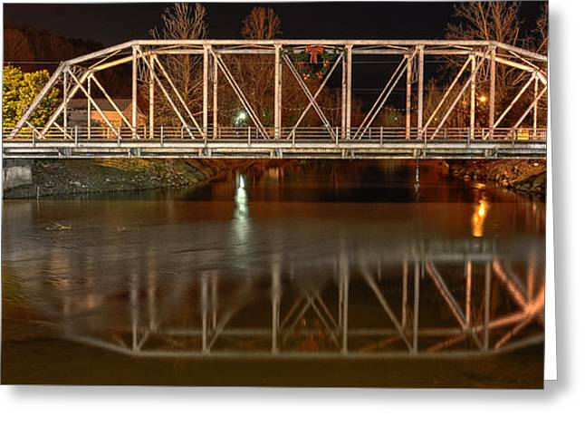 Tennessee River Greeting Cards - The Steel Bridge Greeting Card by Greg Mimbs