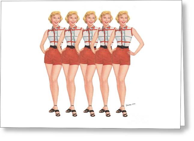 The Stepford Wives Greeting Card by Edward Fielding