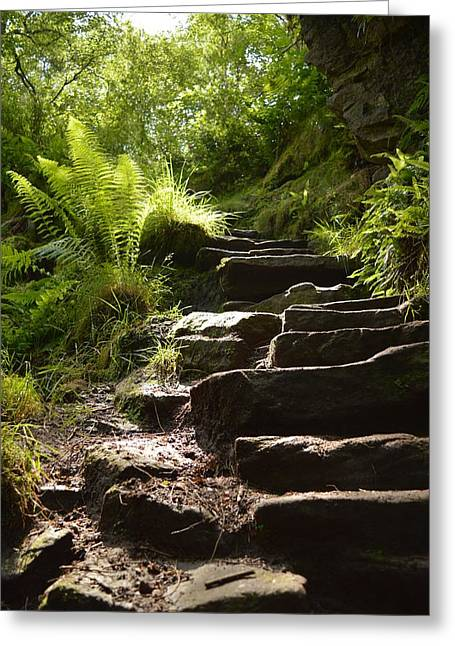 Stepping Stones Greeting Cards - The Steps of the Church Greeting Card by Jon Rushton