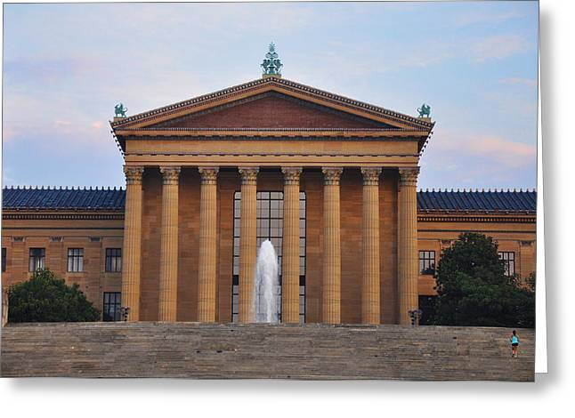 The Steps of the Philadelphia Museum of Art Greeting Card by Bill Cannon