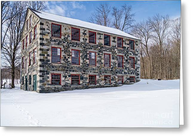 Shakers Greeting Cards - The Stone Mill Enfield NH Greeting Card by Edward Fielding