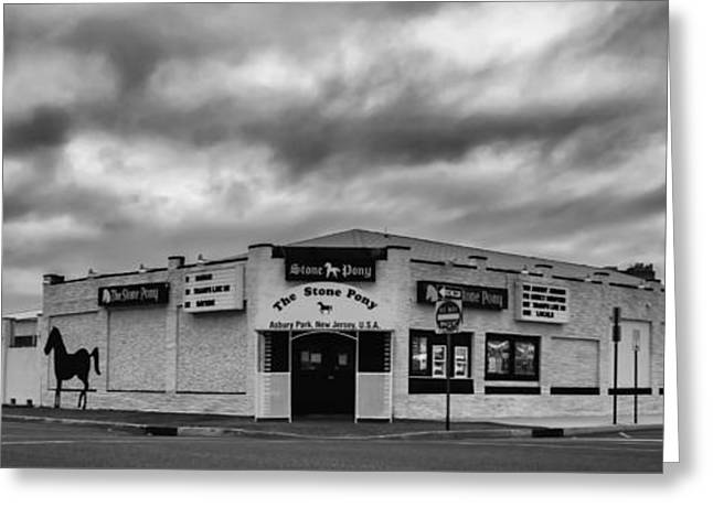 The Stone Pony Asbury Park New Jersey Black And White Greeting Card by Terry DeLuco