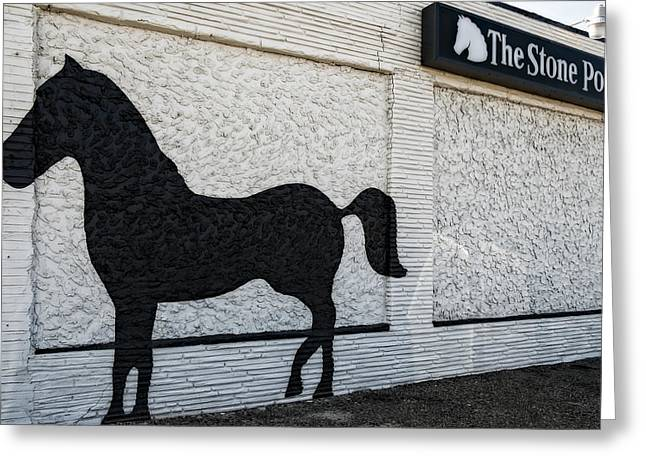 The Stone Pony Greeting Card by Susan Candelario