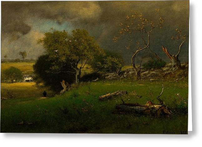 The Storm Greeting Card by George Inness