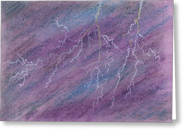 Depression Pastels Greeting Cards - The Storm Inside Me Rages Greeting Card by KCWarthog Art