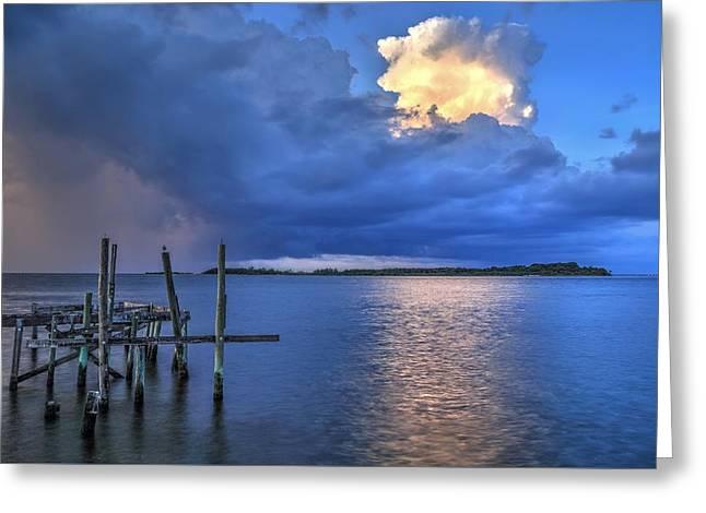 Cedar Key Greeting Cards - The storm will pass Greeting Card by Wioletta Pietrzak