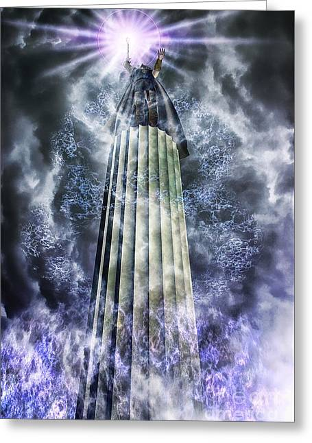 Enchanter Greeting Cards - The Stormbringer Greeting Card by John Edwards
