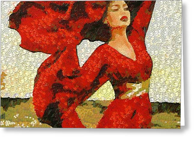 On The Beach Greeting Cards - The Story Of A Beautiful Red In The Mix Greeting Card by Catherine Lott