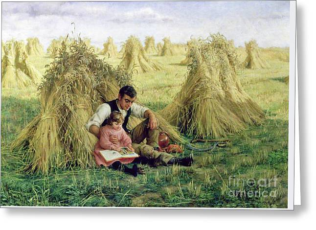 The Story Of Ruth And Boaz Greeting Card by Frank William