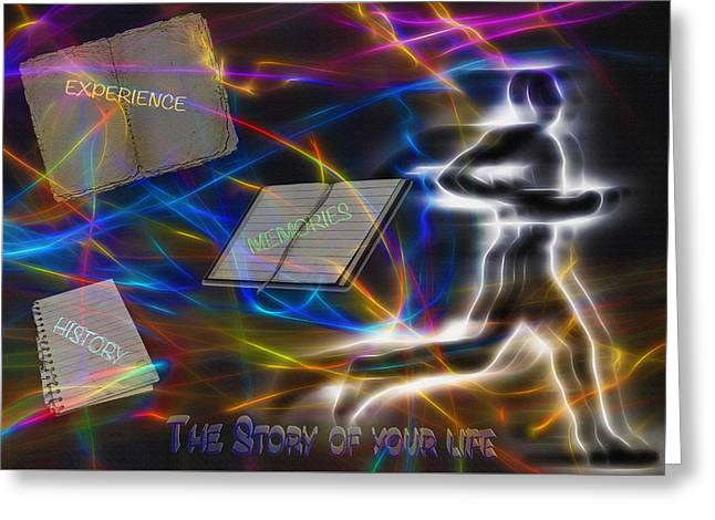 Individual Experiences Greeting Cards - The Story of your Life - Conceptual Art Greeting Card by Steve Ohlsen