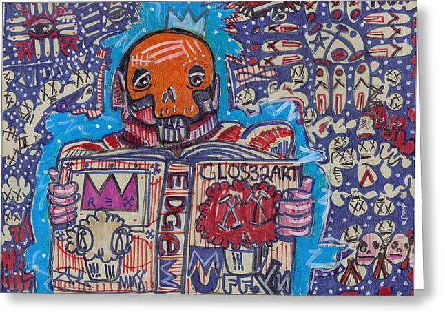 Reality Mixed Media Greeting Cards - The Story Teller Greeting Card by Robert Wolverton Jr