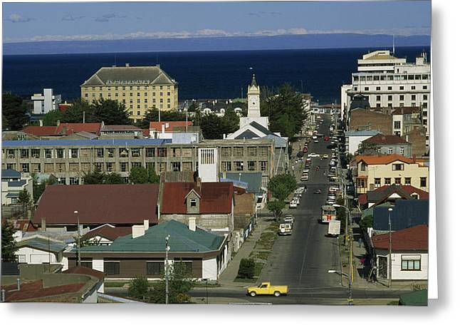 Thoroughfare Greeting Cards - The Strait Of Magellan Can Be Seen Greeting Card by Gordon Wiltsie