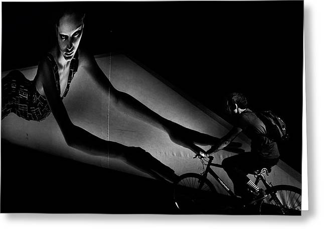 Biker Greeting Cards - The Streets Of The City Greeting Card by Antonio Grambone