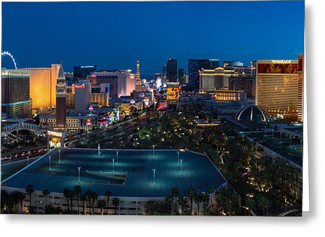Las Vegas Greeting Cards - The Strip Las Vegas Greeting Card by Steve Gadomski