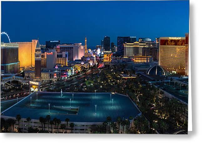 Mirage Greeting Cards - The Strip Las Vegas Greeting Card by Steve Gadomski