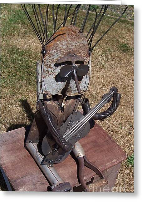 Singer Sculptures Greeting Cards - The Student Greeting Card by JP Giarde