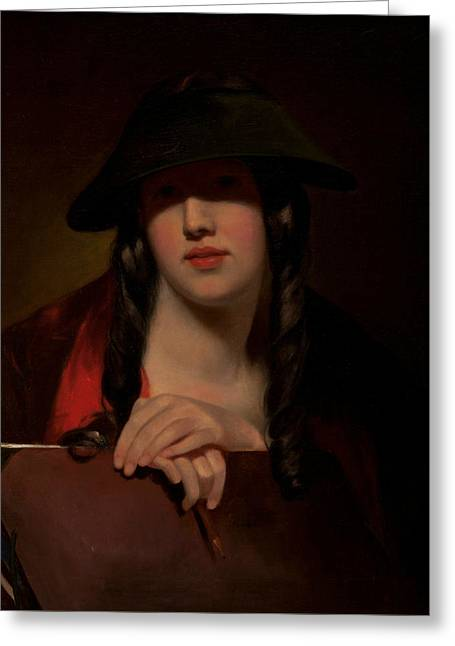 The Student Greeting Card by Thomas Sully