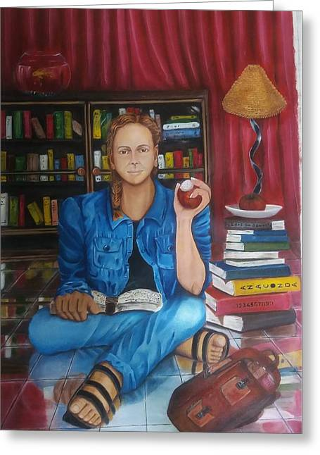 The Study Greeting Card by Bharati BV