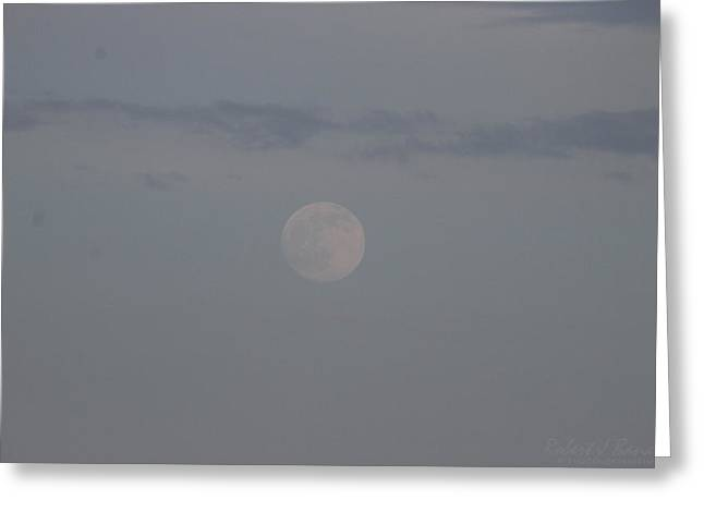 Usa Photographs Greeting Cards - The Subtle Shine of the Moon Greeting Card by Robert Banach