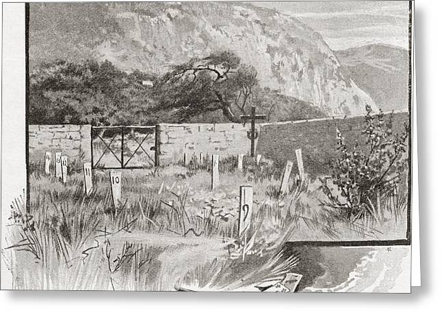 Overgrown Drawings Greeting Cards - The Suicide S Cemetery, Monte Carlo Greeting Card by Vintage Design Pics