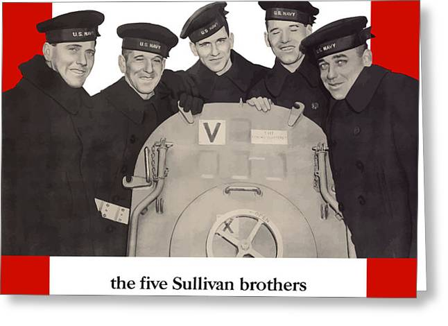 The Sullivan Brothers Greeting Card by War Is Hell Store