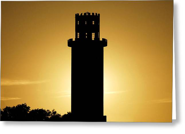Sulphur Spring Greeting Cards - The Sulphur Springs Tower Greeting Card by David Lee Thompson