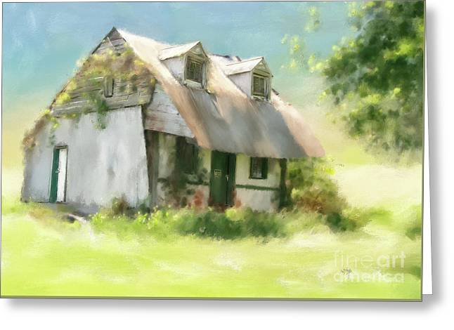 The Summer Cottage Greeting Card by Lois Bryan