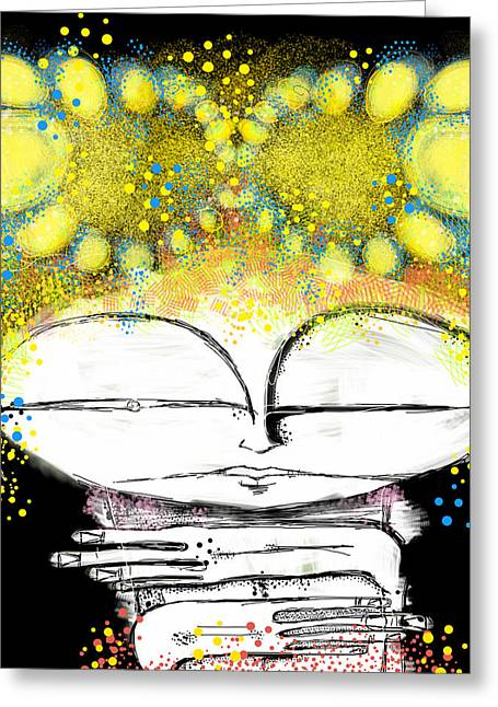 Digital Surreal Art Greeting Cards - The Summer Greeting Card by Mark M  Mellon