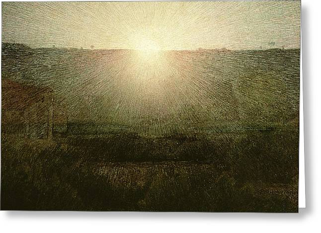 The Sun Greeting Card by Giuseppe Pellizza da Volpedo