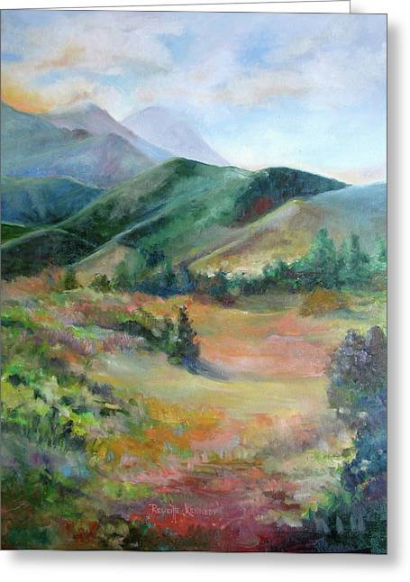 The Sun Goes Down Over Rampart Range Greeting Card by Reveille Kennedy