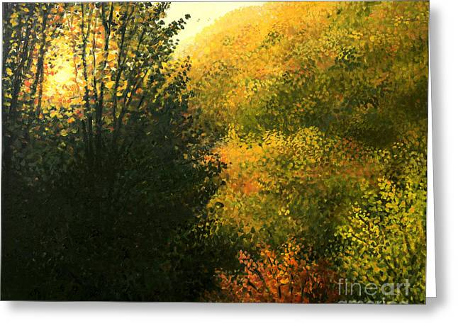 Seasonal Prints Rural Prints Greeting Cards - The Sun Hour Greeting Card by Kiril Stanchev
