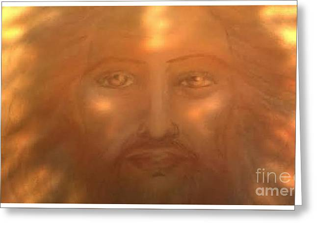 Son Pastels Greeting Cards -  Jesus The Sun of God  Greeting Card by Jennifer Kamadon