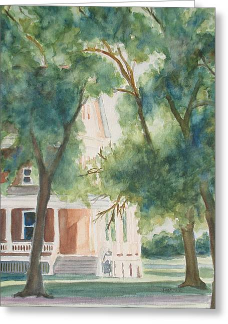 The Sunlit Porch Greeting Card by Jenny Armitage
