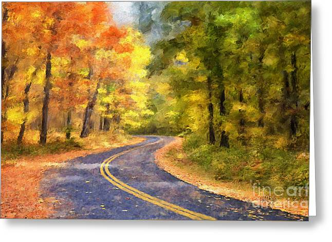 The Sunny Side Of The Street Greeting Card by Lois Bryan