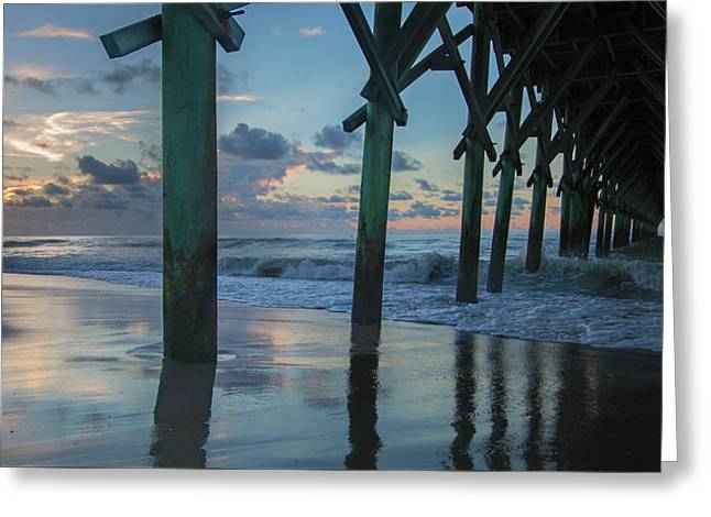 The Sunrise Topsail Island Greeting Card by Betsy C Knapp
