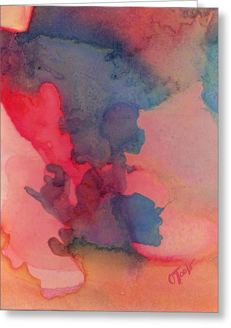 Recently Sold -  - Abstract Expression Greeting Cards - The Sunset Sage Greeting Card by Ken OToole