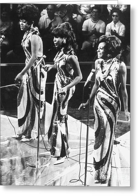 Trio Greeting Cards - THE SUPREMES, c1963 Greeting Card by Granger