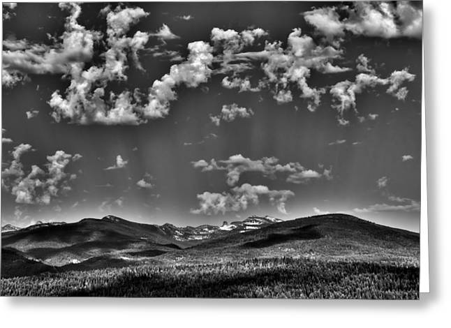 Sureal Greeting Cards - The Sureal Selkirk Mountain Range Greeting Card by David Patterson