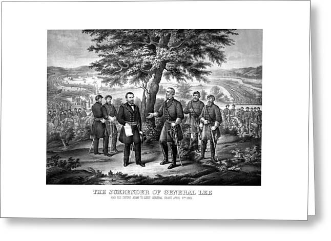 Us Civil War Greeting Cards - The Surrender Of General Lee  Greeting Card by War Is Hell Store