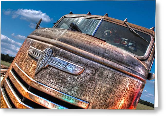 Old Pickup Greeting Cards - The Survivor - 42 Chevy Greeting Card by Gill Billington