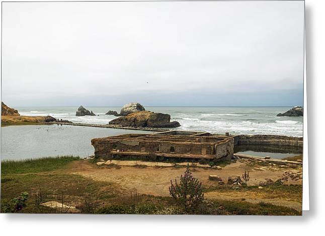 Panoramic Ocean Greeting Cards - The Sutro Baths Of San Francisco Greeting Card by Mountain Dreams